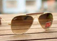 Óculos de sol aviador Dourado marrom acompanhar certificado. bc61419751