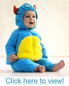 Carter's Halloween Costume Blue Monster 2 Pcs Hooded Top $ Pants New (12 Months)
