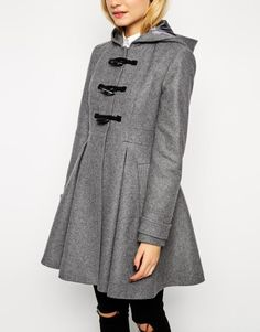 We're all about the trendy winter coat, check out the ASOS Skirted Duffle Coat on Keep!