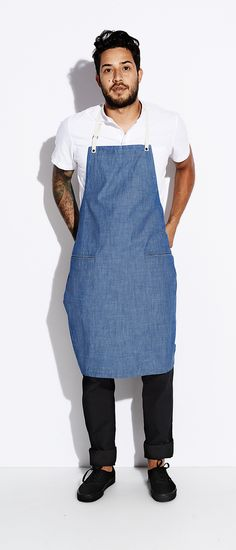 US milled blue chambray