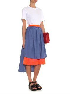 Triple-layer perforated midi skirt | Kolor | MATCHESFASHION.COM UK