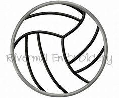 $2.95Applique Volleyball Machine Embroidery Design
