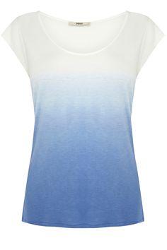 Oberteile  Blusen   Blau T-Shirt mit Farbverlauf   Damenmode   Oasis