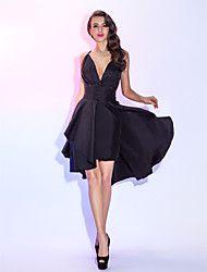 vestido de cóctel de tafetán tirantes de una líne... – USD $ 74.99