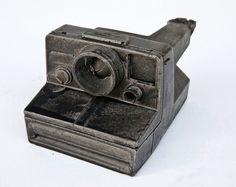 Polaroid Camera - Vintage tech cast in concrete.