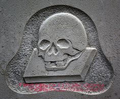 200 year old gravestone Darth Vader style...