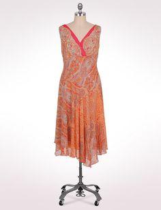 Pretty!  Plus Size   Whats New   Plus Size Asymmetrical Paisley Dress   dressbarn