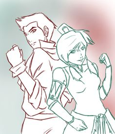 Mako and Korra. I don't care that they're only in one episode so far. I love them.