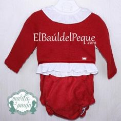 MARTA Y PAULA Conjunto Niña Bebé Familia Picolino y Punto Rojo