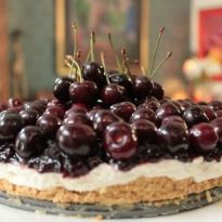 Cherry Cheesecake: A gorgeous #cheesecake with the sweetness of cherries. Smooth and creamy, this cheesecake is sure to delight your senses.
