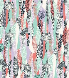 Safari animals wallpaper for UMA Buenos Aires