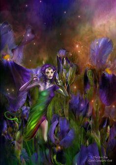 Language Of Flowers Series: The Iris Fae Digital Art Painting Fantasy Paintings, Animal Paintings, Fantasy Series, Fantasy Art, Pixel Image, Language Of Flowers, Fairytale Art, Custom Art, Faeries