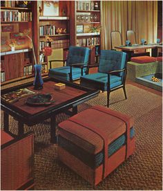 None of these pieces. Just like the 50's Mad Men vibe this space gives off.
