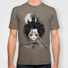Edward, Sweet Edward T-shirt by Sandra Vargas - $22.00 #edwardscissorhands #gothictshirt #emotshirt #timburton #arttshirt
