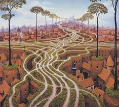 Paintings by Jacek Yerka | Cuded