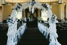 Church Wedding Decoration' Add blessedness to your wedding..