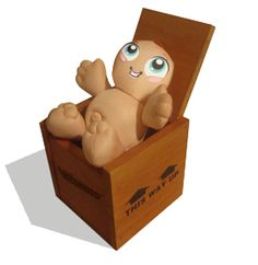 """""""Ta-dah!"""" Warms Toy Chest, Storage Chest, Plush, Characters, Warm, Toys, Home Decor, Homemade Home Decor, Figurines"""