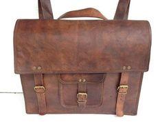 Komal's Passion leather Leather Messenger Laptop Briefcase Satchel Backpack Bag, 16-Inch