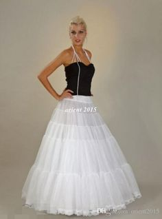 White/Ivory A Line Floor Length Bridal Petticoats Bridal Dress Underskirt Wedding Accessories Online with $13.62/Piece on Orient2015's Store | DHgate.com