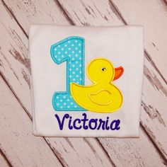 Rubber Duck First Birthday Outfit