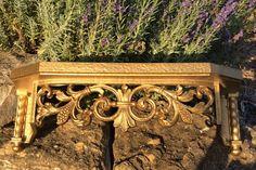 Vintage Gold Lrg.  Syroco Fleur De Lis Style by YellowHouseDecor