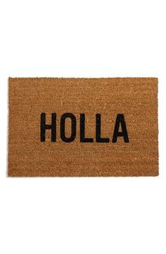 Holla doormat. Dying.
