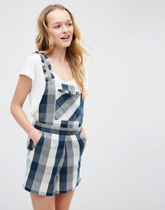 ASOS+Check+Pinafore+Playsuit+with+Ruffles