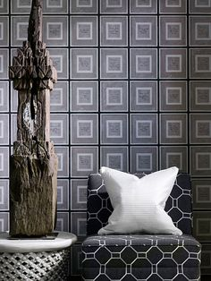 Make a splash with our Biography Linen Wallpaper, a sleek and stylish addition to any home. Buy today at Andrew Martin. Grid Wallpaper, Linen Wallpaper, Unique Wallpaper, Boys Wallpaper, Wallpaper Online, Cole And Son, Industrial Loft, Designer Wallpaper, Decoration