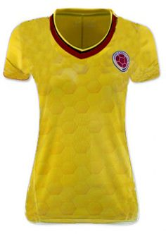 2017-18 Cheap Women Jersey Colombia Soccer Team Home Replica Football Shirt  2017-18 Cheap Women Jersey Colombia Soccer Team Home Replica Football Shirt  ... 092cfb2ce