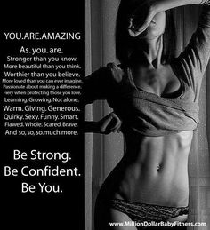 Confidence is sexy. Be proud of the body you work hard for. Love it and take care of it.