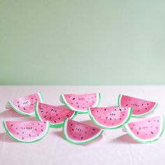 Watermelon Place Cards DIY   Oh Happy Day!