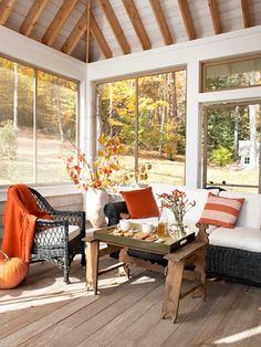 22 cozy ways to decorate your home for fall: http://www.countryliving.com/homes/decor-ideas/fall-decorating-ideas