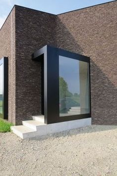 "design is finding a solution to a problem. Great design is finding the simplest solution to the same problem"" - NICHOLAS PETERSEN - (Great design by Bert Baumans - Mijn Huis Mijn) Brick Architecture, Residential Architecture, Contemporary Architecture, Architecture Details, Interior Architecture, Landscape Architecture, Entrance Design, House Entrance, Design Exterior"