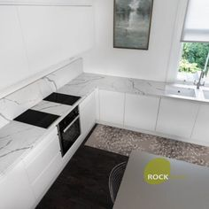 We were chosen to provide the quartz worktops in a true Calacatta style in the form of Calacatta Statuario for this hub of the home. The kitchen is very modern and features all the mod cons. We think the design in the kitchen works wonders and especially with this marble style quartz.