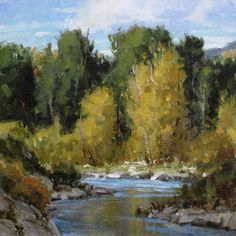Autumn's Gold - Oil Painting by Carole Cooke Western Art, Original Artwork, Autumn, Sculpture, Gallery, Artist, Photography, Painting, Oil