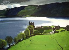 Loch Ness, 1977, California art by Hardie Gramatky. HD giclee art prints for sale at CaliforniaWatercolor.com - original California paintings, & premium giclee prints for sale