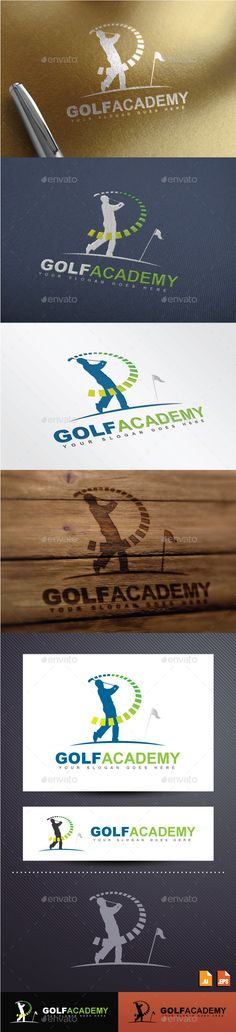 Golf Academy Logo Design Template Vector #logotype Download it here: http://graphicriver.net/item/golf-academy-logo/8882254?s_rank=328?ref=nesto