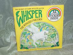 Whisper The Winged Unicorn Secret of Dark Hollow Vintage Book Stickers 1985 0899542891   eBay