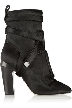 FENDI Calf Hair Ankle Boots. #fendi #shoes #boots