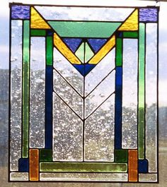 CAs Design | Frank Lloyd Wright Stained Glass | frank lloyd wright style stained glass | stained glass | Pinterest