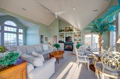 You will want for nothing during your stay at this well planned and excellently located beach house. Make sure you enjoy a Carolina Morning every day of your stay this year. | Carolina Morning 41 |  Oceanfront House | Outer Banks Vacation Rentals | Hatteras Island, NC Outer Beaches Realty #tropical #BeachHouse #palms