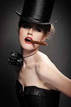 Welcome to Cabaret!   pin-up, retro, cigar
