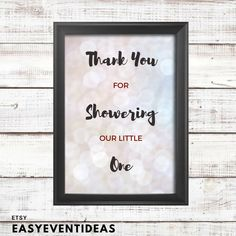 Silver Sparkle Baby Shower Thank You 8x10 Sign   Printable   Instant Download by EasyEventIdeas on Etsy https://www.etsy.com/listing/589295820/silver-sparkle-baby-shower-thank-you