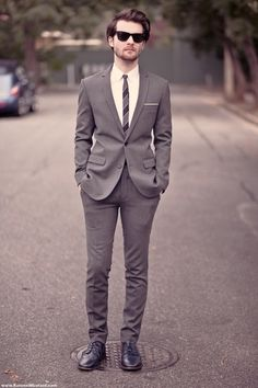 grey suit - Click image to find more Men's Fashion Pinterest pins