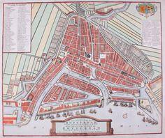 Omschrijving: Stadsplattegrond van Rotterdam. Techniek: Kopergravure. Inkleuring: Latere datum Maker: Henry de Leth Datering: 1768. Beeldmaat H x B: 41.0 x 49.5 cm.