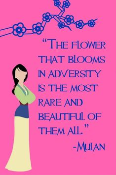 This collection of Disney Inspirational Quotes are sure to add some magic to your day. #mulan #disney #disneyquote