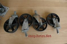 Genial Antique Caster Wheels 5 Inch Cast Iron By VintageIndustrial,