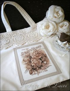 Lots of great ideas with vintage lace