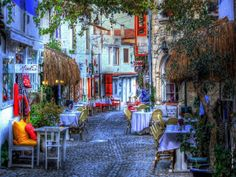 Each street in Alacati is like a fairy tale,Cesme,Izmir