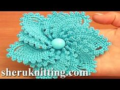 12-Petal Crocheted Spiral Flower Tutorial 69 Flower to Crochet - YouTube